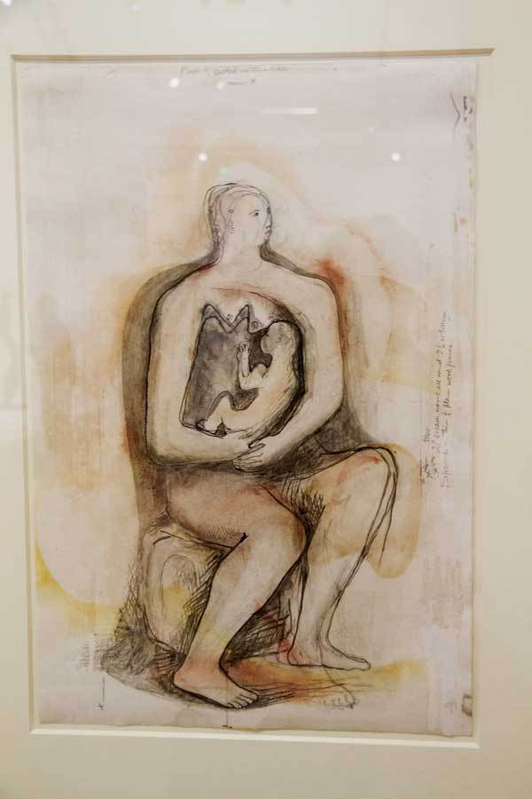 Henry Moore Woman And Baby Sketch We 3788