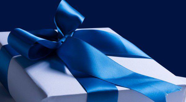 Teal Ribbon Gift Box Small 1