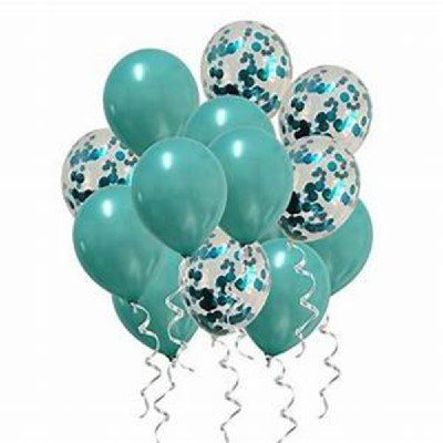 Teal Balloons 4X4