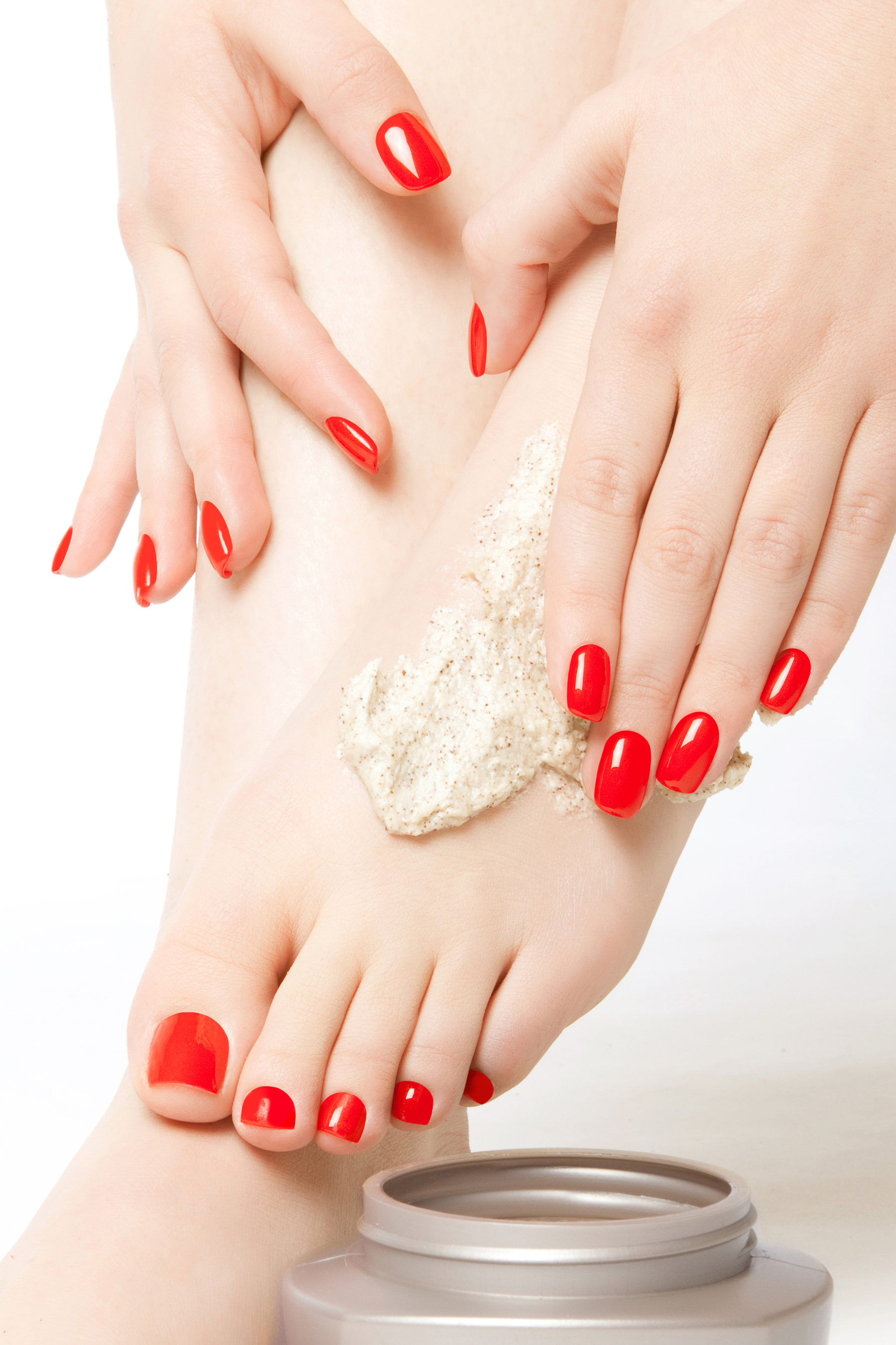 Bio Sculptre Feet Red Nails 1